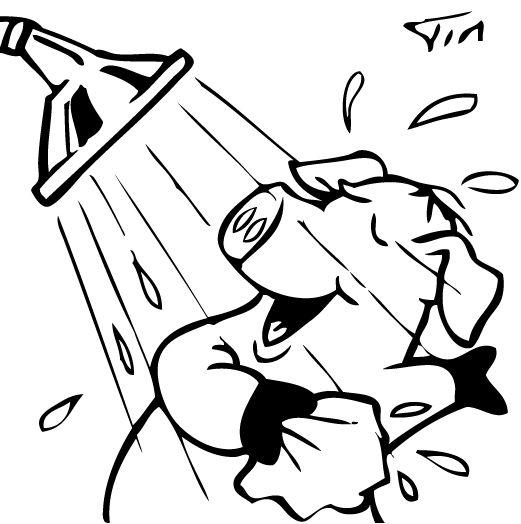 to take a shower cartoon Peace gesture, Cartoon, Take a