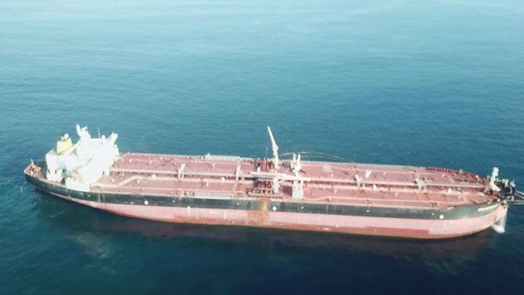 LONG RANGE 5,5 KM DJI Mavic @ Large of Leça da Palmeira, oil tanker boat...