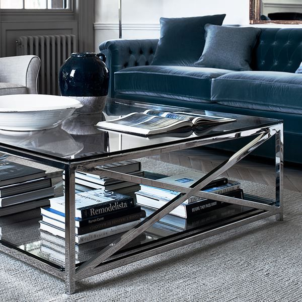 Neptune Manhattan Glass Coffee Table Square Glass Coffee Table