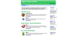 About Web Search April 2008 Best Sites of the Day: Open Source Mac