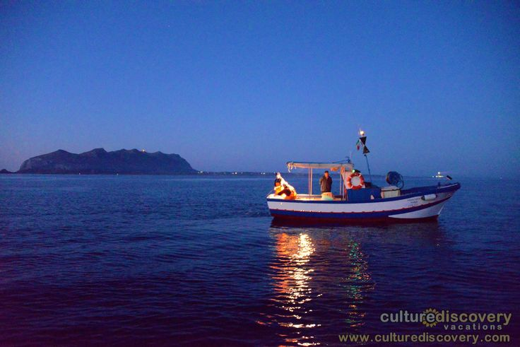 "Night fishing with local fishermen in Sicily - One of the excursions on Culture Discovery Vacations' ""Cooking & Adventure on the Islands of Sicily"" cooking, culinary and wine tours in Italy.  http://www.culturediscovery.com/sicily-italy-cooking-vacation/cooking-a-adventure-on-the-islands-of-sicily.html"