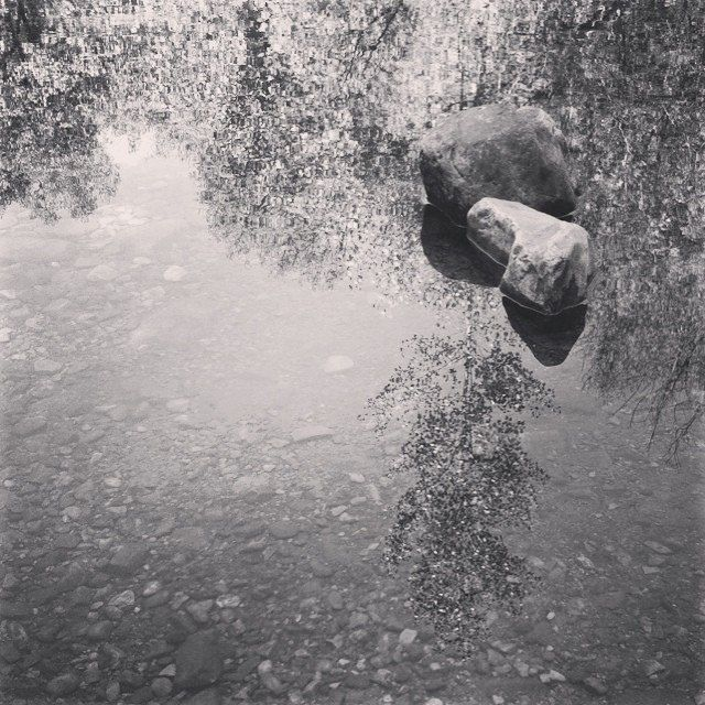 Piedras flotantes #reflection #river  #stone