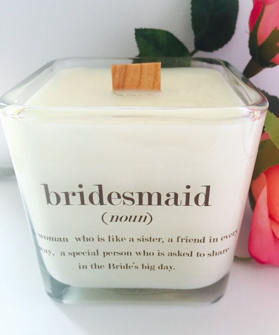 NEW Bridesmaid Soy Candle  12 oz Jar Bridesmaid by VintageCreated