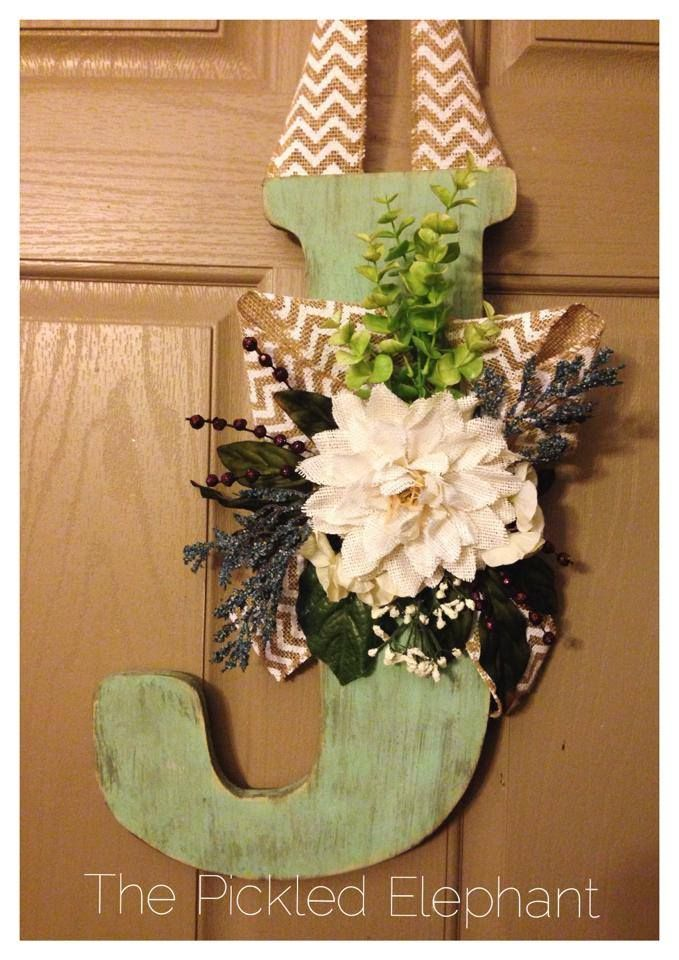 20 best Initial Wreaths images on Pinterest | Initial ...