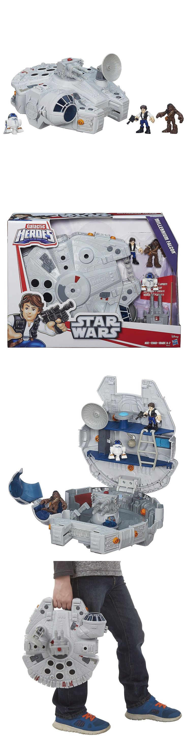 Playskool 2576: New Playskool Heroes Star Wars Galactic Heroes Millennium Falcon And Figures -> BUY IT NOW ONLY: $35 on eBay!