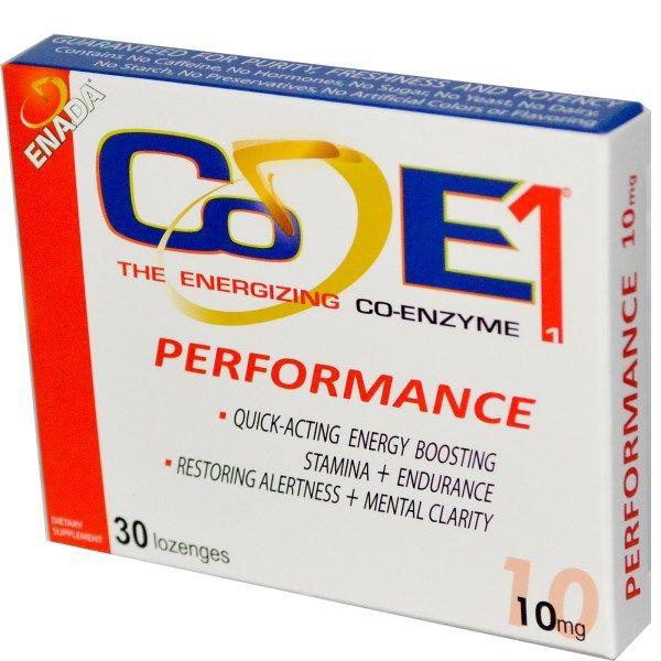 Co - E1, Бодрящий кофермент, Performance, 10 мг, 30 пастилок - iHerb.com