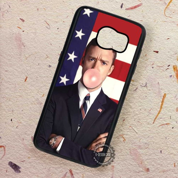 American Flag Justin Timberlake Buble Gum - Samsung Galaxy S7 S6 S5 Note 7 Cases & Covers