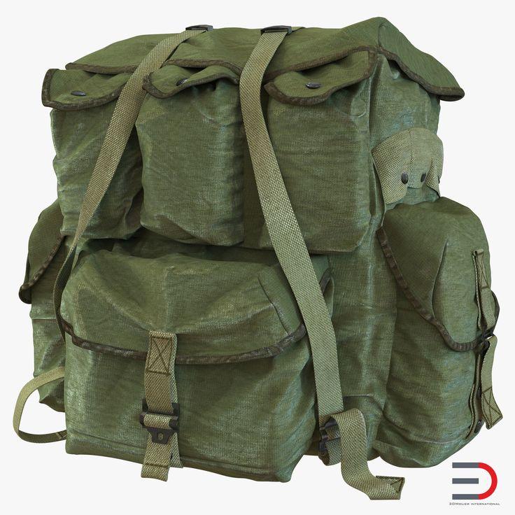 Military Backpack 3d model