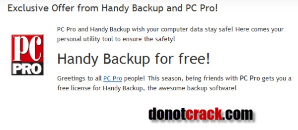 [Giveaway] Handy Backup and PC Pro | Free license for you