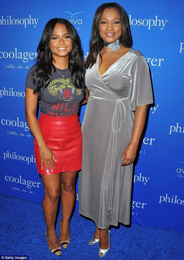 Pretty ladies; Christina mingled with the beautiful actress and hostGarcelle Beauvais, 49