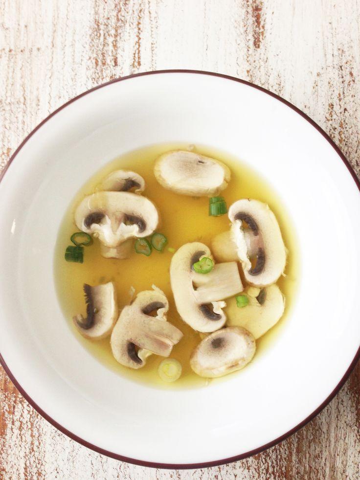 Crock-Pot Japanese Onion Soup:    1 Carrot  2 Celery Stalks  2 Garlic Cloves  4 C. Reduced Sodium Fat Free Chicken Broth  2 C. Water  1/4 C. Onion, Wedges  1/2 Tsp. Salt  2 Tbsp. Garlic  6 Mushrooms  2 Green Onions, Sliced (Optional Garnish)