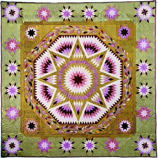 Stella Antigua Quiltmaker: Hanne Vibeke de Koning-Stapel From National Quilt Museum (Museum of the American Quilter's Society), Founder's Collection. Published in The Quilt Index