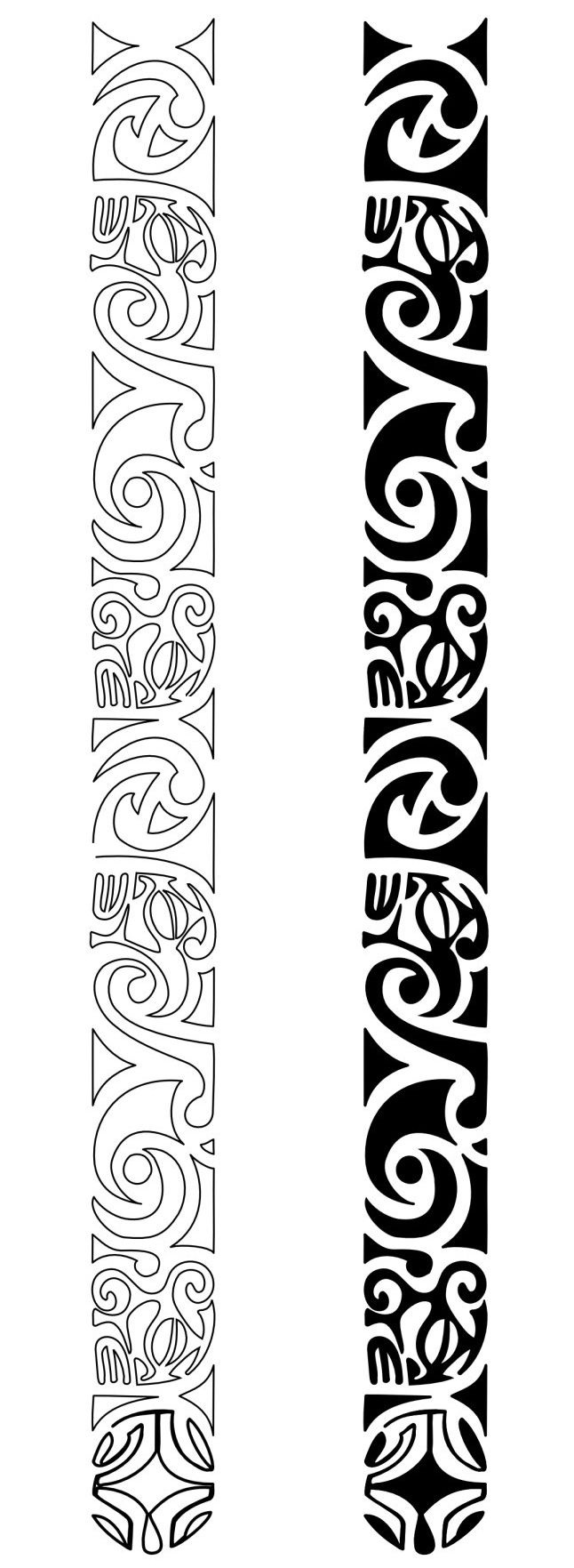 1239 best images about maori polynesian on pinterest for Maori band tattoo
