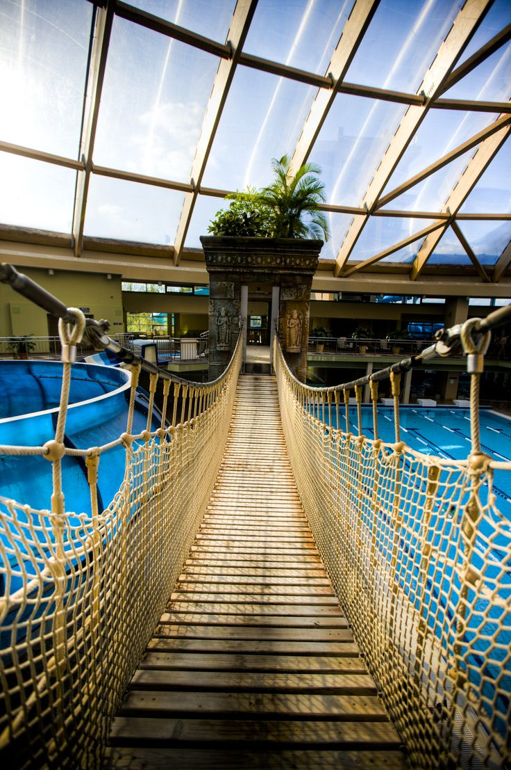 Aquaworld Bridge #adventure #beautiful #aquapark #aquaworld #bridge #budapest #hungary