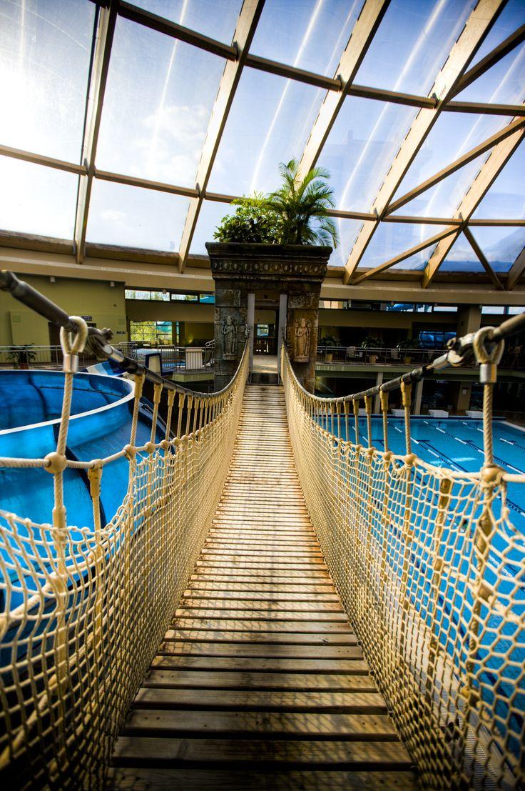Aquaworld Bridge #adventure #beautiful #aquapark #aquaworld #bridge #budapest #hungary
