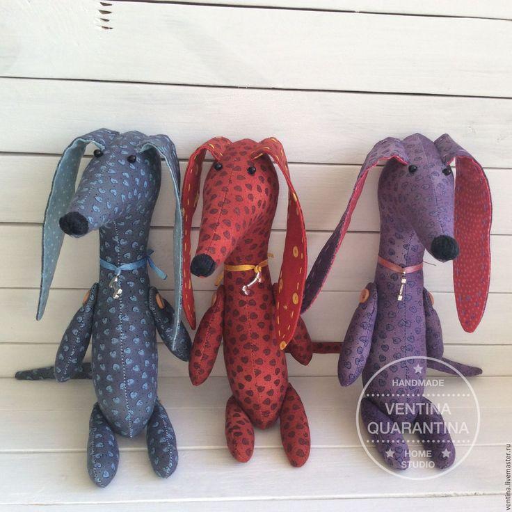 Купить Такса - фиолетовый, коричневый, лиловый, шоколадный, такса, собачка, собака, собака игрушка