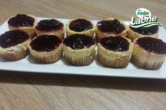 Muffin Kalıbında Böğürtlenli Cheesecake