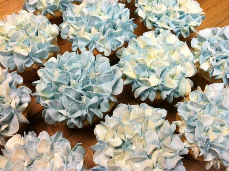 Pinterest | Hydrangea Cupcakes, Hydrangeas and Cupcake