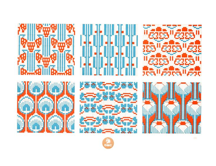 FREE geometric & retro cross stitch patterns!...might try some of these with Hama beads...