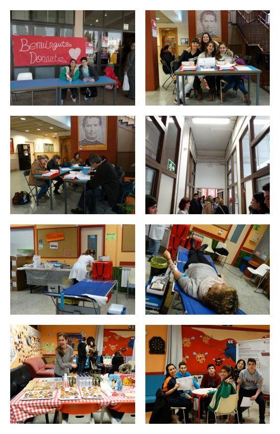 Donació de sang a l'escola organitzada pels alumnes de 4t conjuntament amb el Banc de Sang i Teixits de Catalunya. 79 donacions.