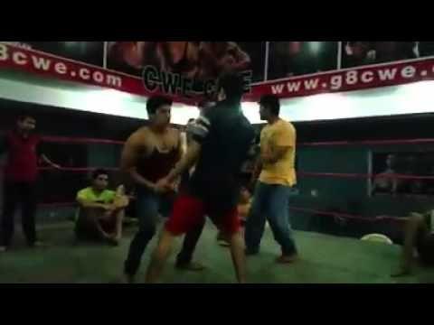 CWE Superstars enjoying in the Ring