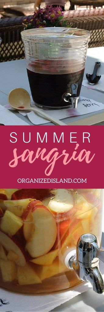 Looking for an easy sangria recipe? There are two here! One red sangria recipe with strawberries and blackberries and a white sangria recipe with fresh peaches and mangos!