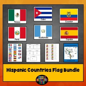 Hispanic Flags Bundle for Spanish-Speaking Countries:Tired of your students…