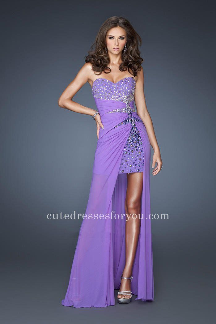 Gorgeous Sweetheart Neckline Strapless Prom Gown By La Femme 18567