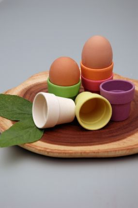 Raw Earth Little Egg Heads - biodegradable homeware