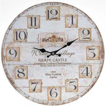 Ρολόι τοίχου ξύλινο 34εκ Inart 3-20-977-0108
