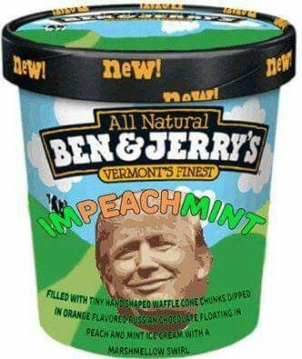 New Ben & Jerry's Impeachmint Trump