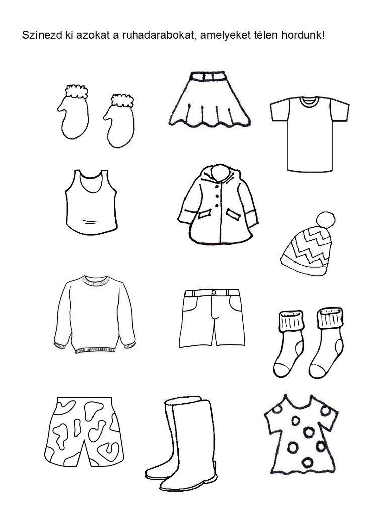 öltözködés, évszakok:
