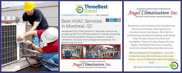 PROUD AND GRATEFUL TO BE SELECTED - BEST RATED HVAC SERVICE IN MONTREAL BIG THANK YOU TO ALL OF OUR CLIENTS ! THANK YOU FOR YOUR REVIEWS!