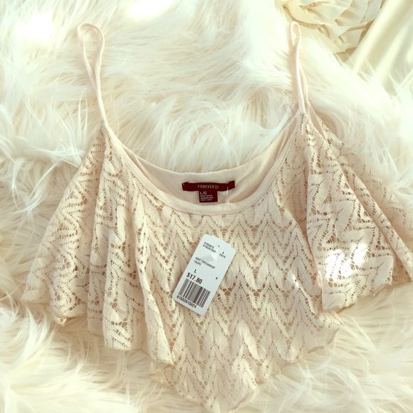 Forever 21 beige crop top Beige knitting with under lining Forever 21 Tops Crop Tops