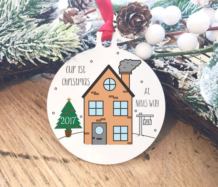 Excited to share the latest addition to my #etsy shop: First Christmas in our new home decoration, tree decor, new house gift for them, small present for him and her