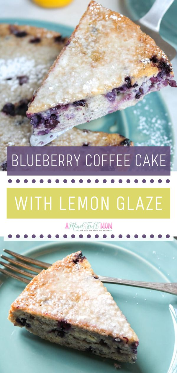 Blueberry Coffee Cake with Lemon Glaze is light, fluffy