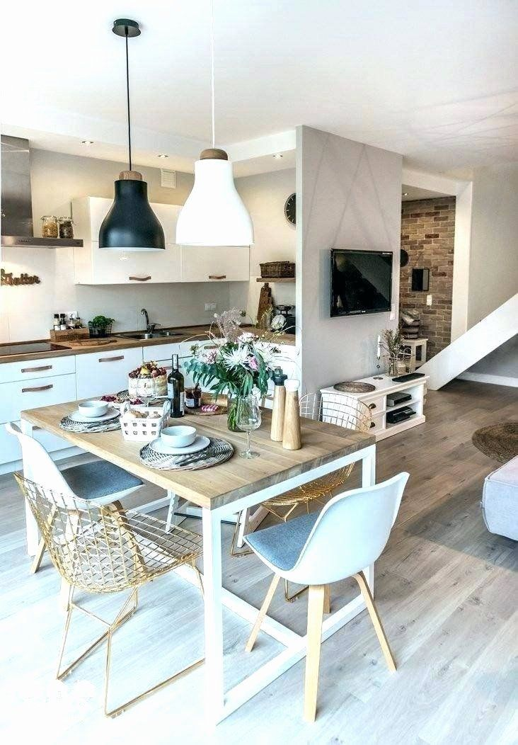 Small Kitchen Dining Room Inspirational Dining Table Kitchen Living Room Inspiring For Small Ideas Di 2020 #small #living #room #with #dining #table