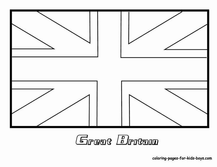British Flag Coloring Pages Flag Coloring Pages Britain Flag England Flag