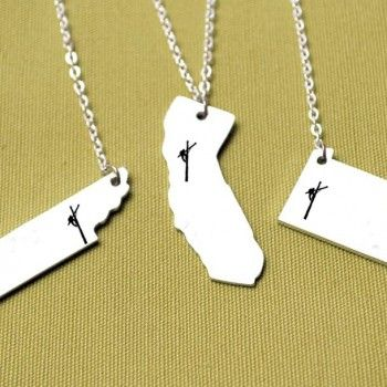 Lineman State Necklace