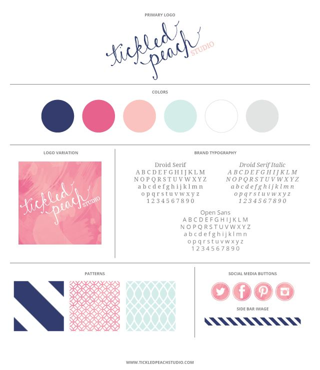 Like the idea of a brand board of elements - Tickled Peach Studio - Brand Board