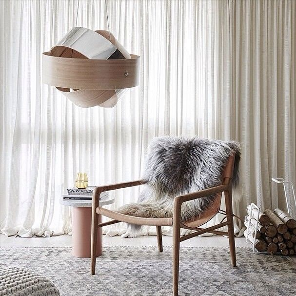 Beautiful shot featuring @plyroom Orion pendant light, @barnaby_lane Smith chair and our handwoven Chobi Kilim in grey.  Styling by @momentsofmoore of @greenhouseinteriors, photography by @evegwilson