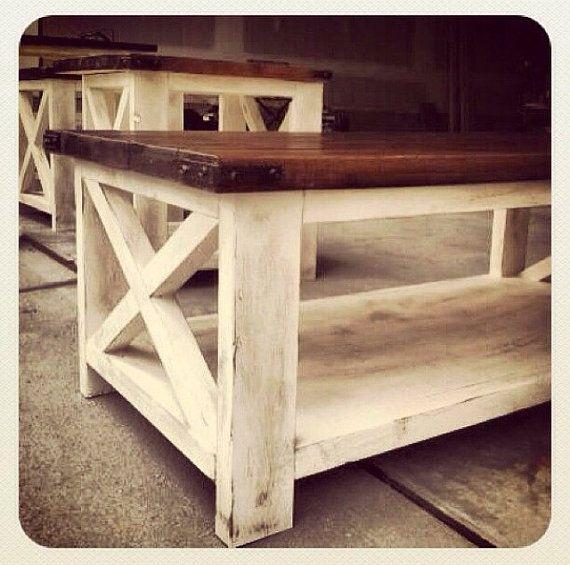 Rustic coffee table  by MAYHEMFURNITURECO on Etsy, $599.99
