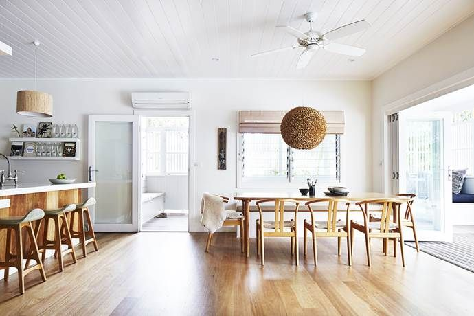 A creative family transformed a rundown Byron Bay backpackers' into a stylish beach house and boutique hotel. Take a tour of their laidback but luxe renovation.