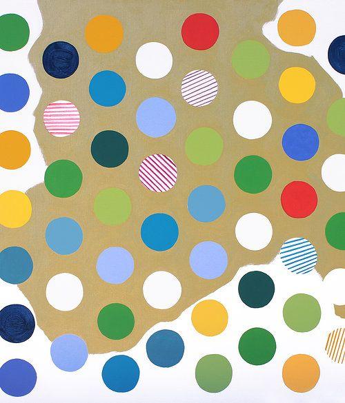 Original acrylic painting by Lucie Jirku, 60x60cm, SOLD www.studiocodeco.cz