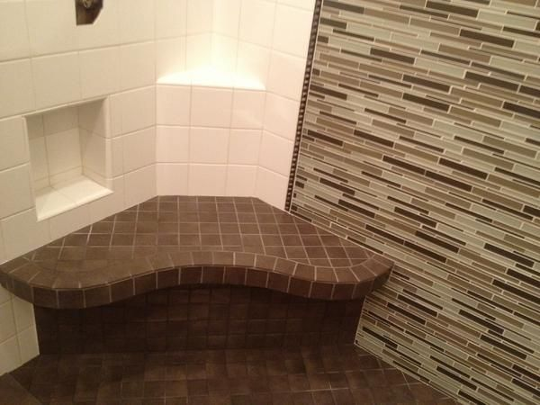 Custom Bench, Niche And Shelf Schluter Systems. Bathroom ShowersBathroom  TilingBath TilesShower ...