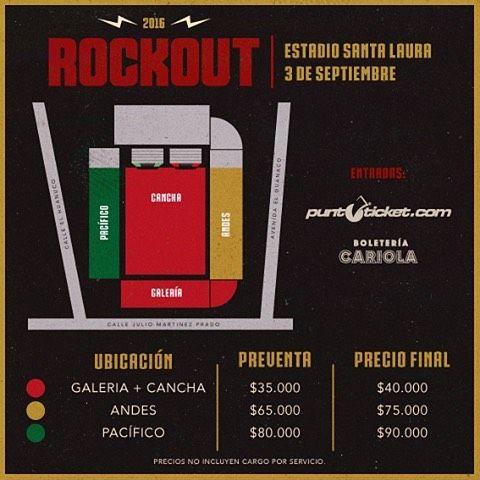 Festival #rockout 2016 Precios y locaciones