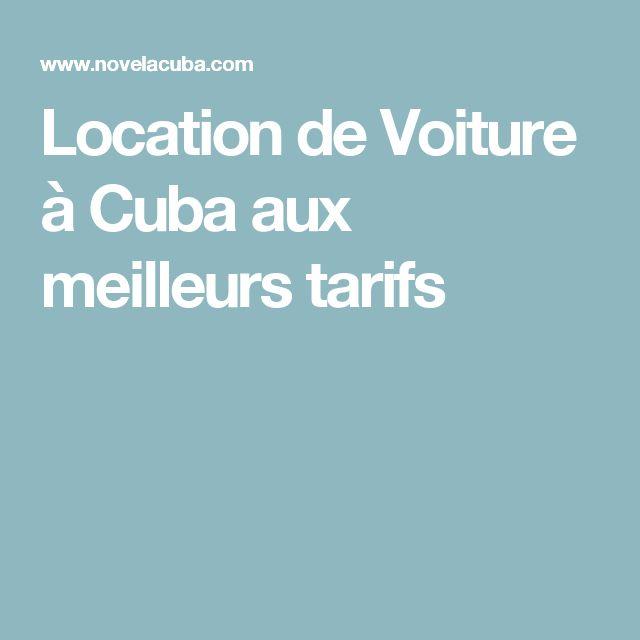 Location de Voiture à Cuba aux meilleurs tarifs