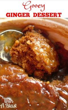 Sticky, delicious Ginger Pudding - perfect comfort food !