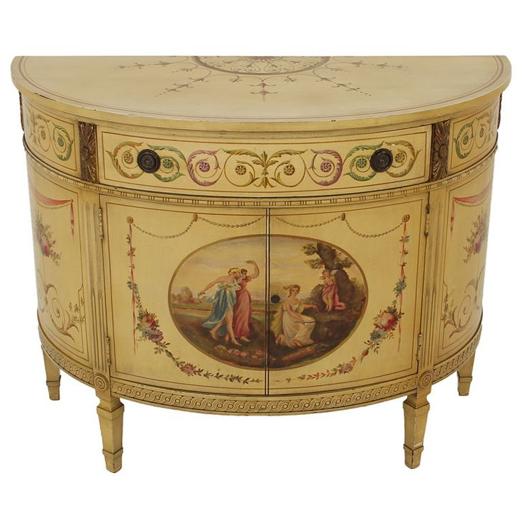 View this item and discover similar commodes and chests of drawers for sale  at - Here we have a masterfully hand-painted demi-lune commode made in  America. - 105 Best Çekmeceler Images On Pinterest At Home, Balcony And