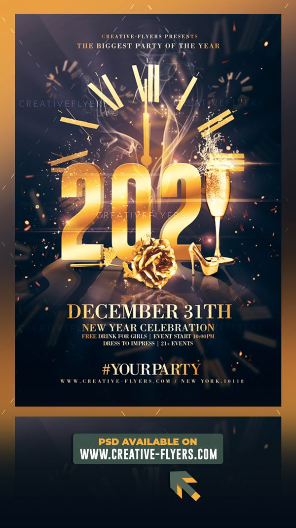 Create And Personalyse New Years Eve Flyer Template Creative Flyers New Year S Eve Flyer Flyer New Years Eve